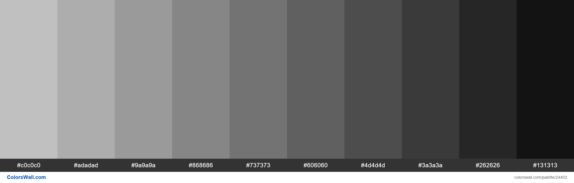 Shades of Silver #C0C0C0 hex color - #24402