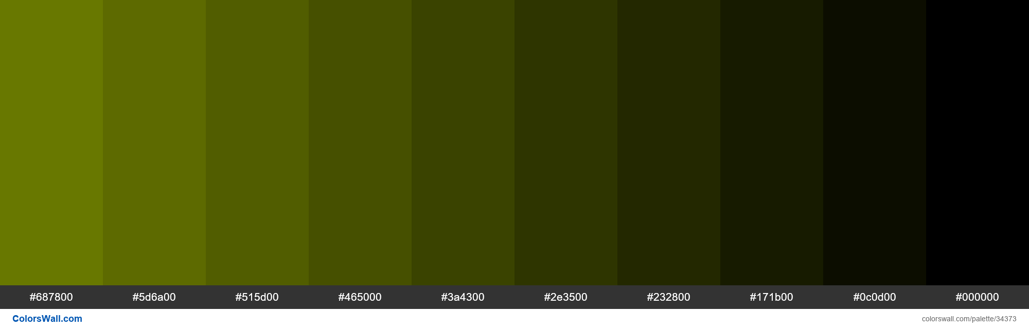 Shades XKCD Color swamp green #748500 hex - #34373