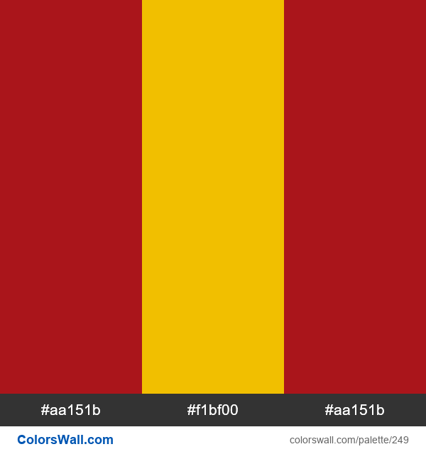 Spain flag colors - #249