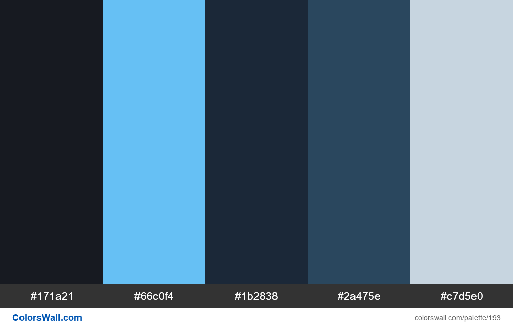 Steam colors palette - #193
