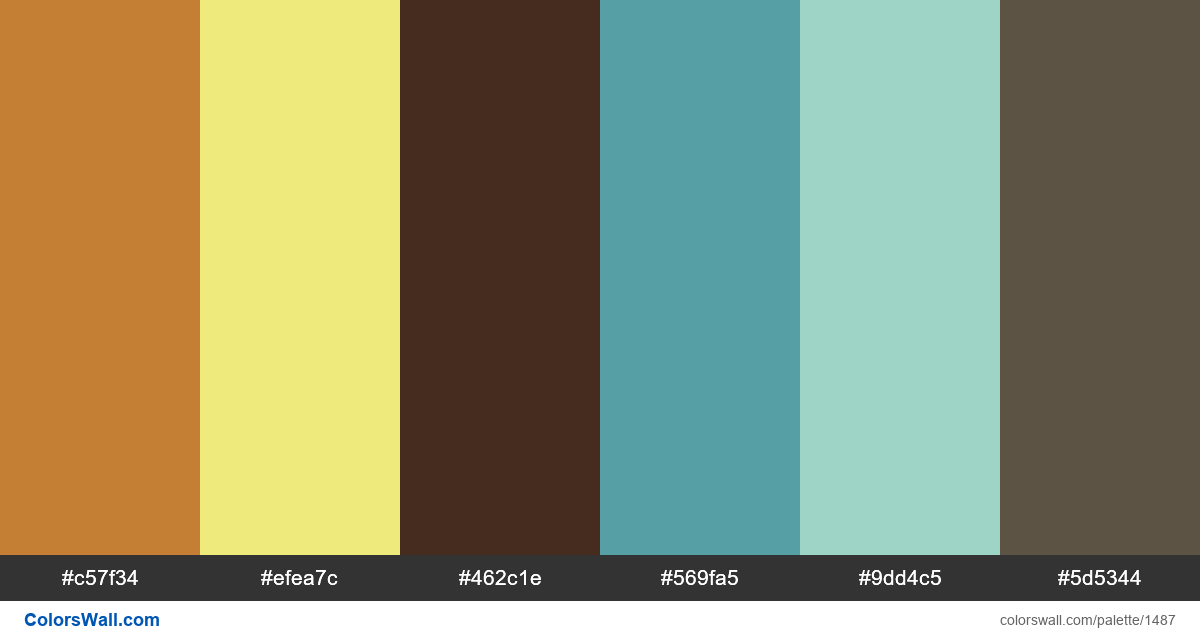 Summer vacation colors palette - #1487