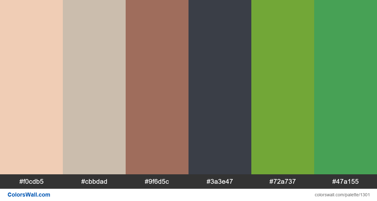 Sunny forest color palette - #1301