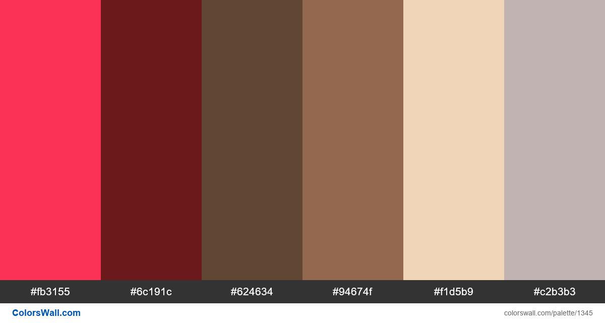 Sunset city colors palette - #1345