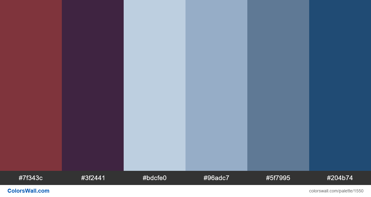 Sunset city colors palette - #1550