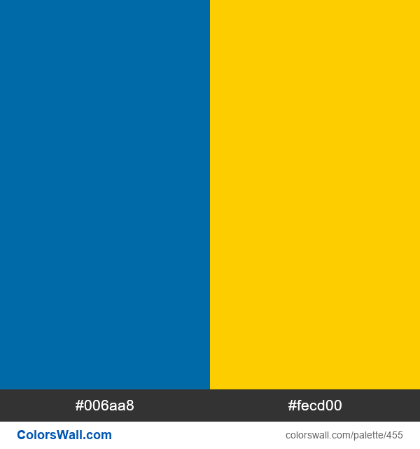 Swedish flag colors - #455