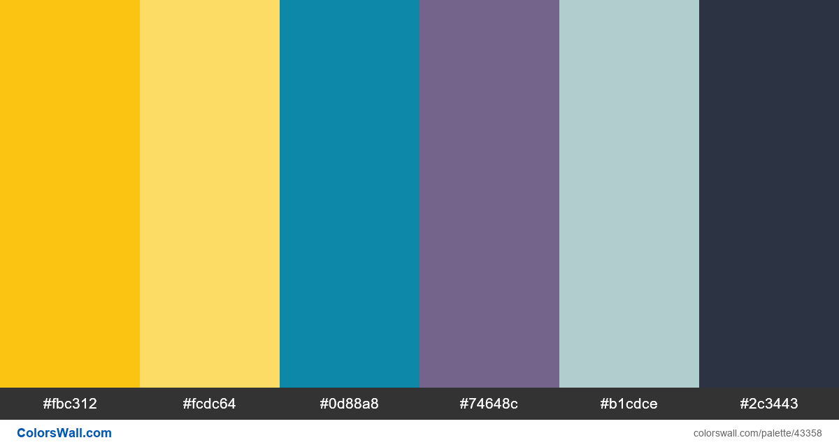 System yellow color palette style guide colours - #43358