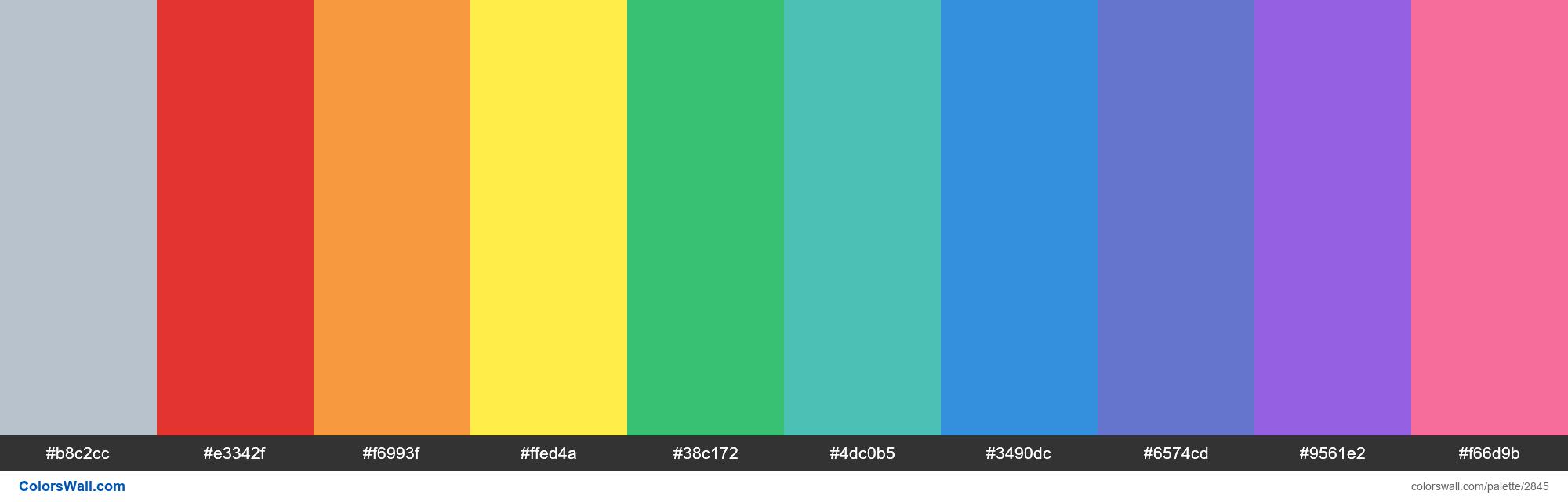 Tailwind CSS default colors palette - #2845