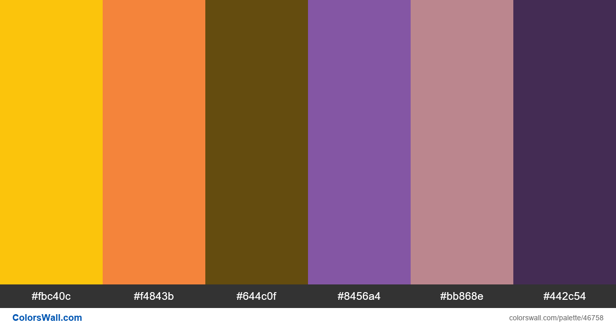 Text free illustration style colors palette - #46758