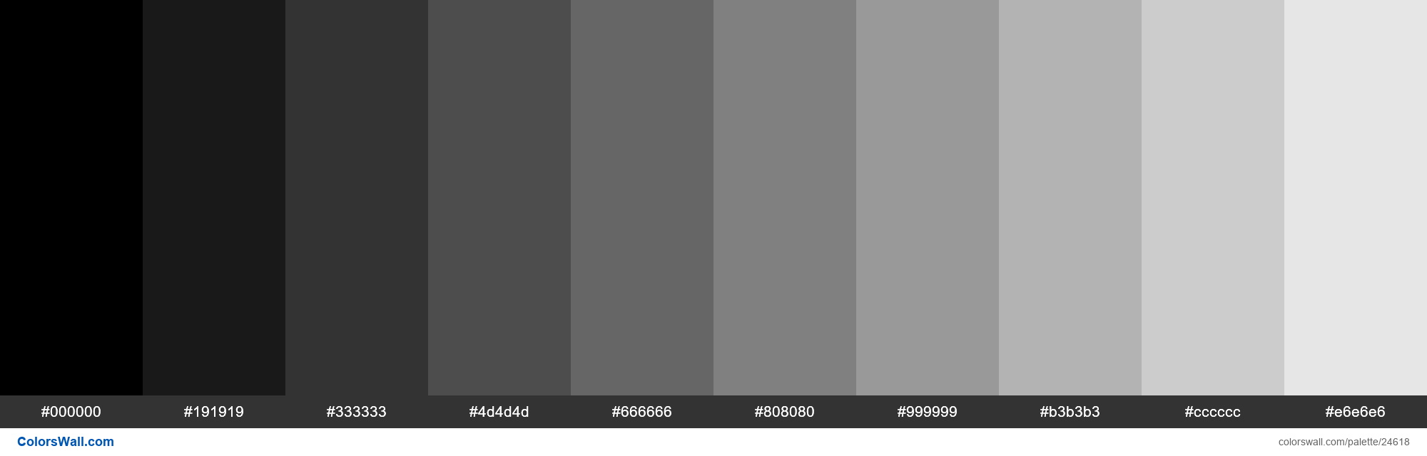 Tints of Black #000000 hex color - #24618