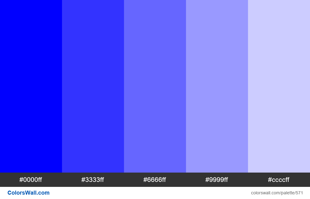 Tints of blue 5 colors - #571