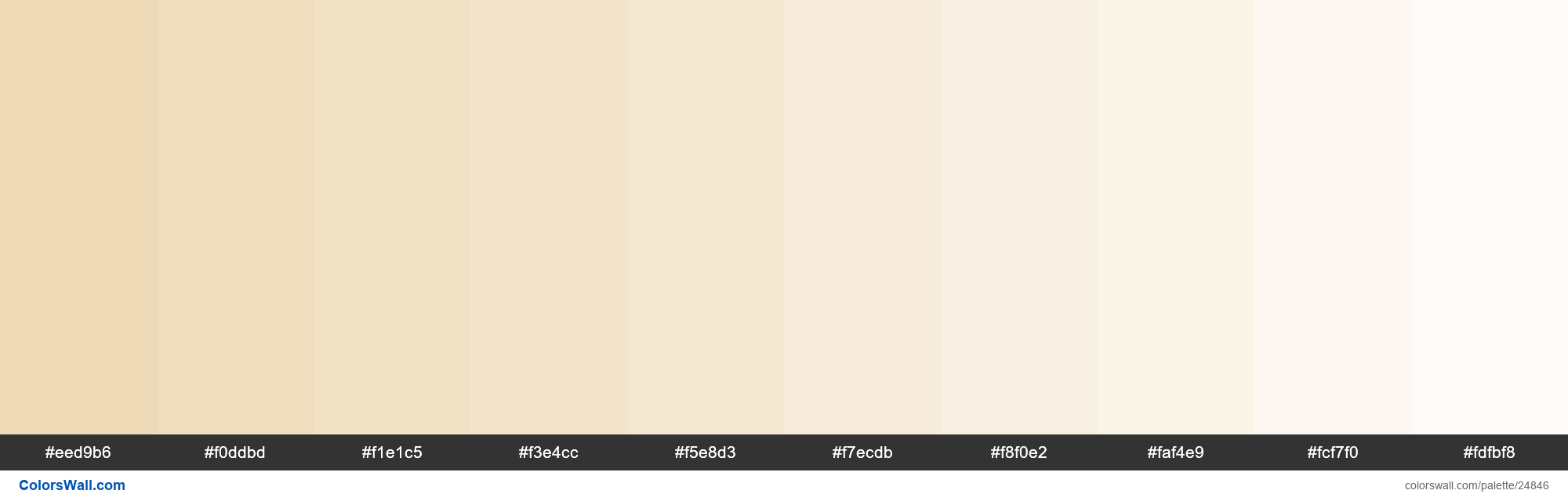 Tints of Champagne color #EED9B6 hex - #24846
