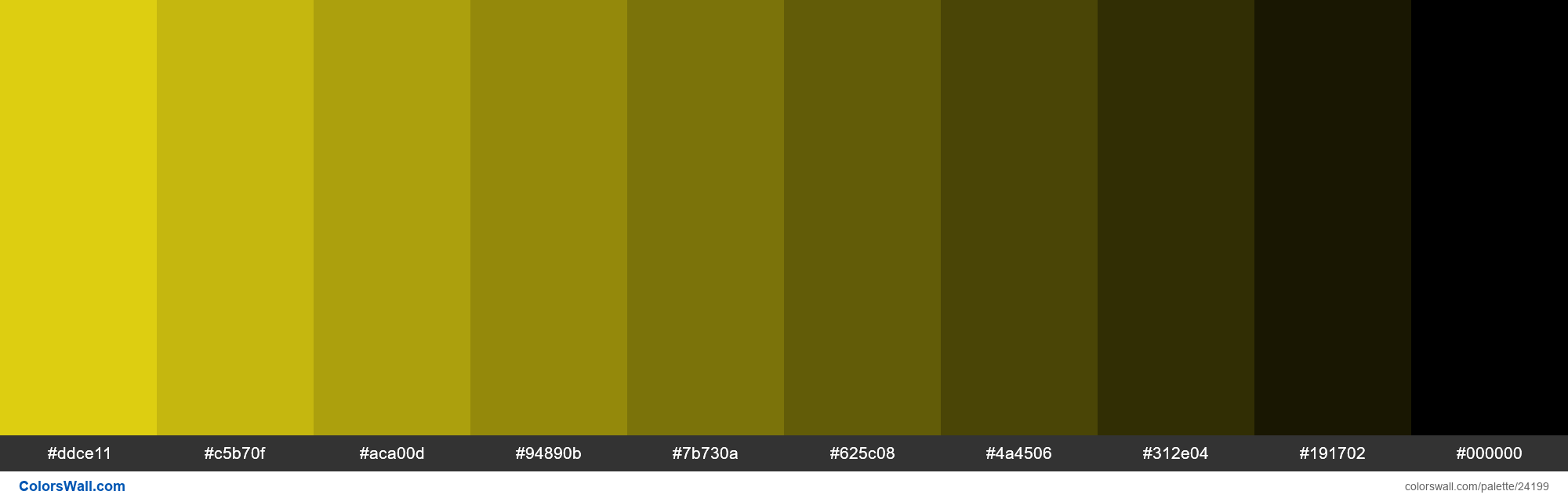 Tints of #f6e513 hex color - #24199