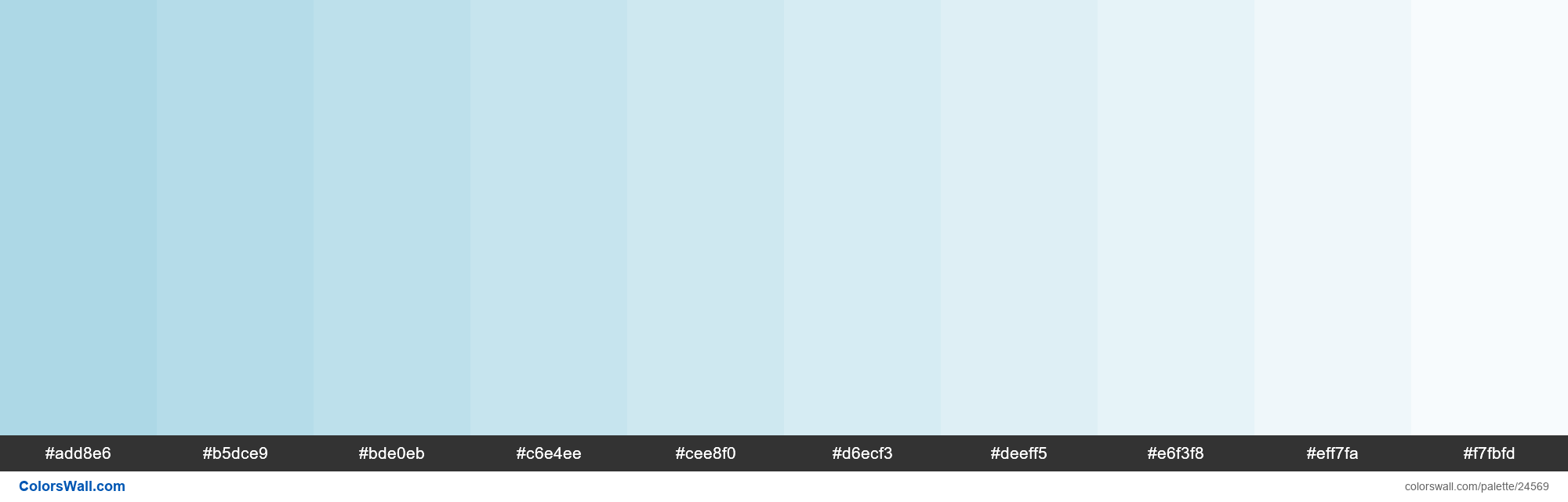 Tints of Light Blue #ADD8E6 hex color - #24569