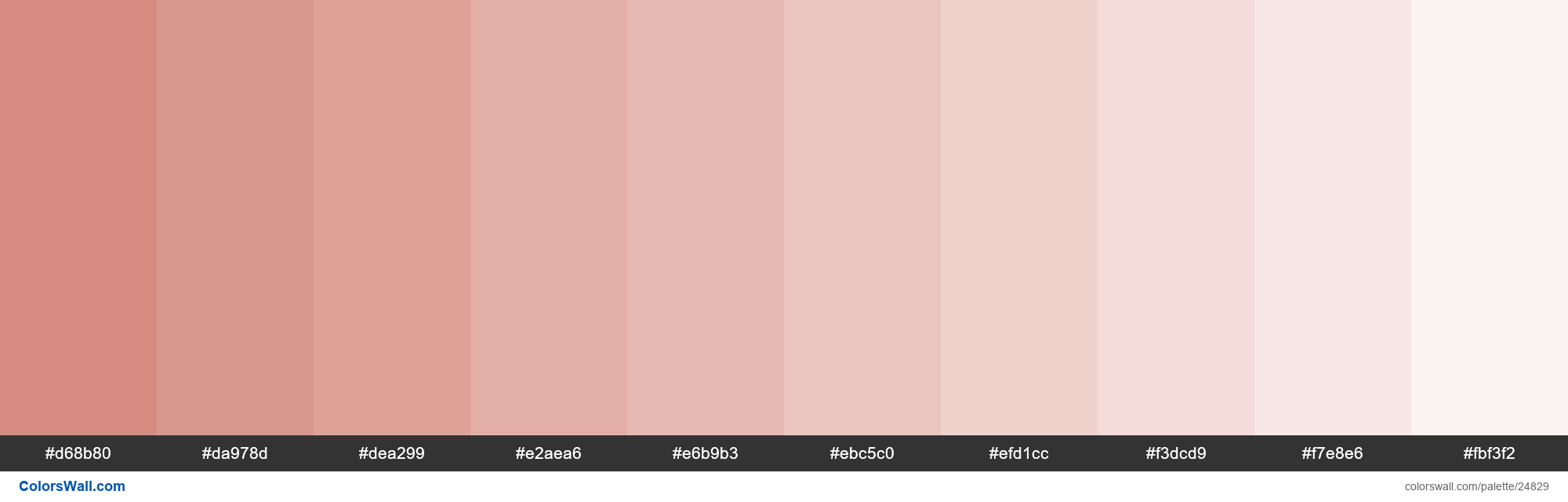 Tints of My Pink color #D68B80 hex - #24829