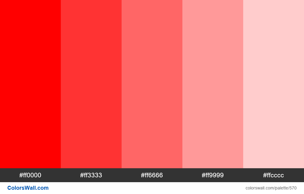 Tints of red 5 colors - #570