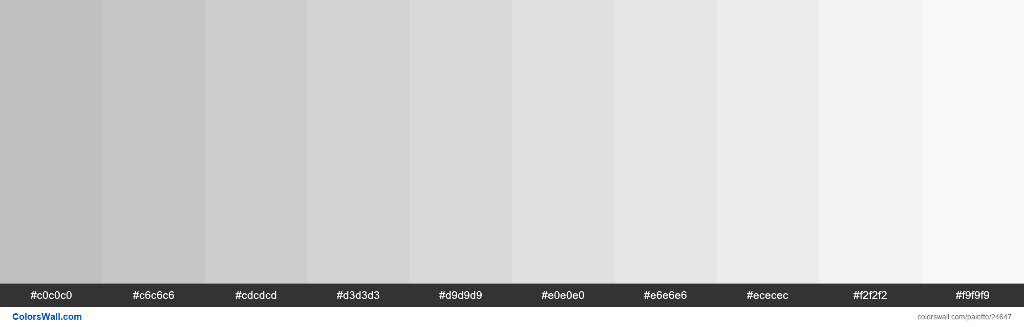 Tints of Silver #C0C0C0 hex color - #24647