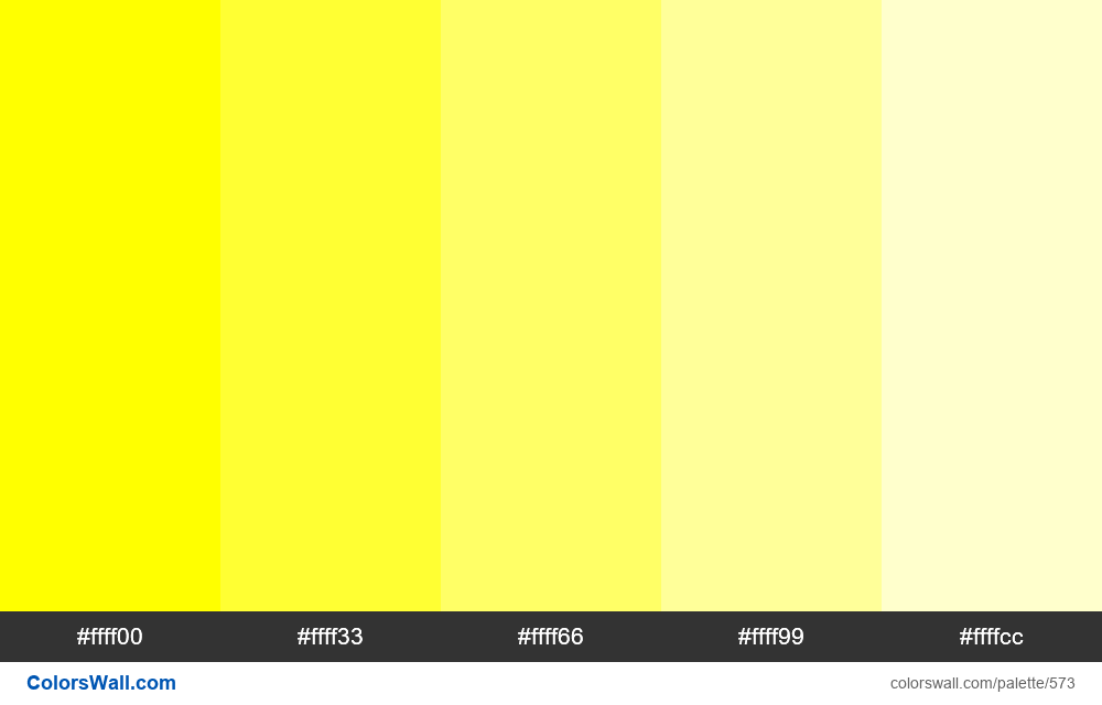 Tints of yellow 5 colors - #573