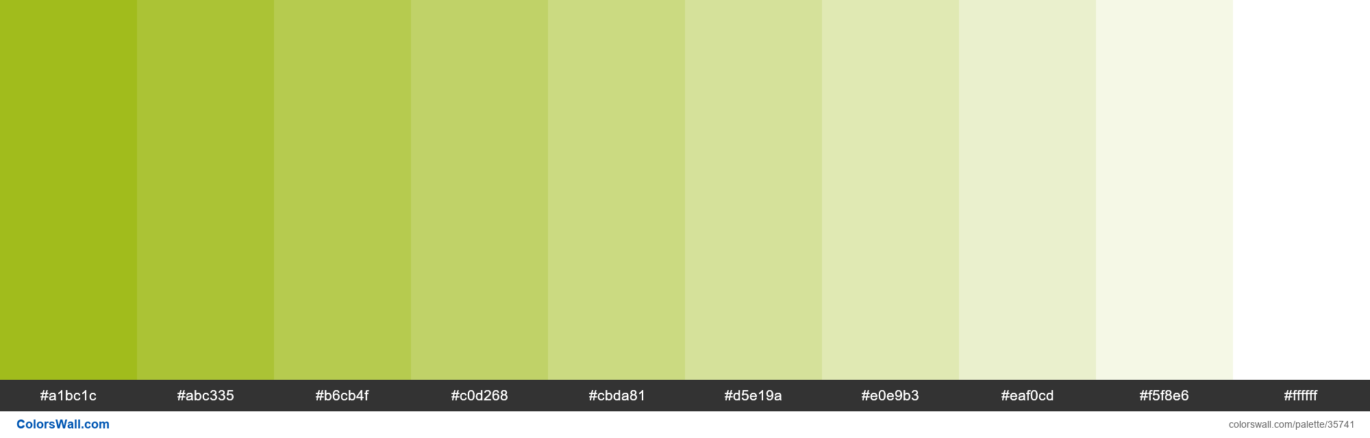 Tints XKCD Color booger green #96b403 hex - #35741