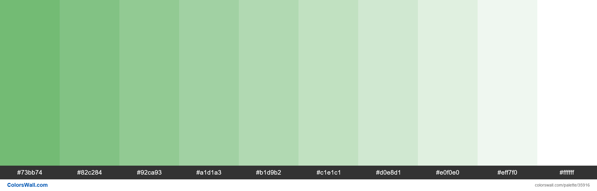 Tints XKCD Color boring green #63b365 hex - #35916