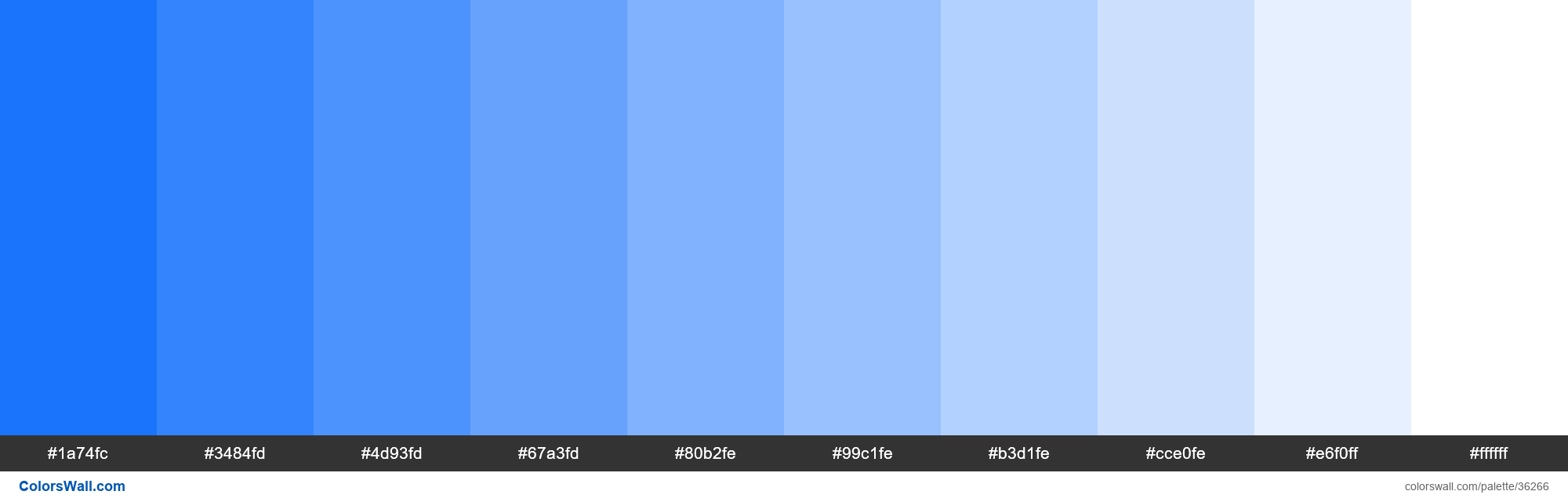 Tints XKCD Color bright blue #0165fc hex - #36266