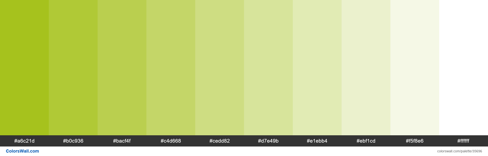 Tints XKCD Color bright olive #9cbb04 hex - #35696