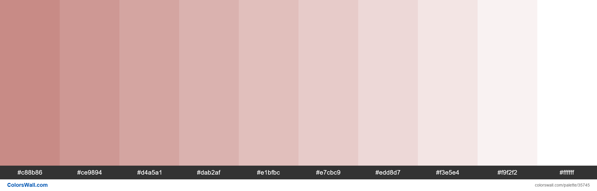 Tints XKCD Color brownish pink #c27e79 hex - #35745