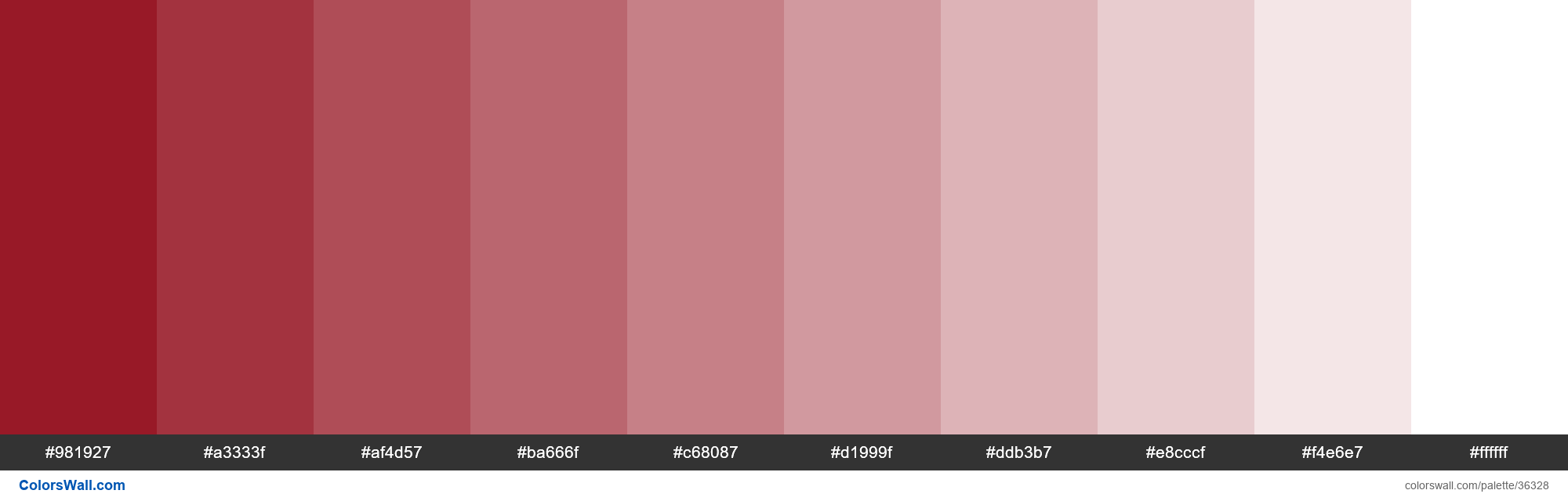 Tints XKCD Color crimson #8c000f hex - #36328