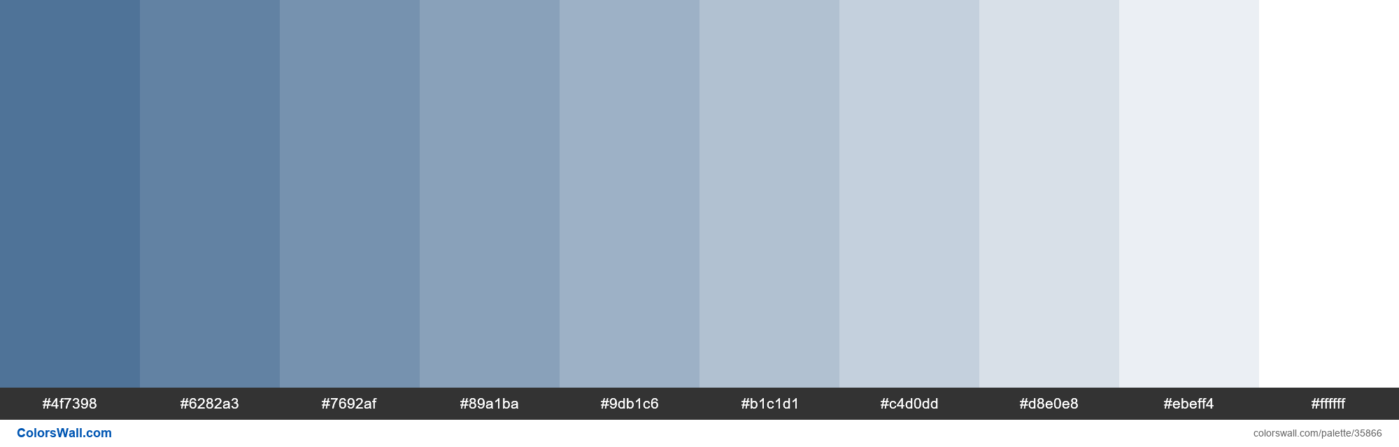 Tints XKCD Color denim #3b638c hex - #35866