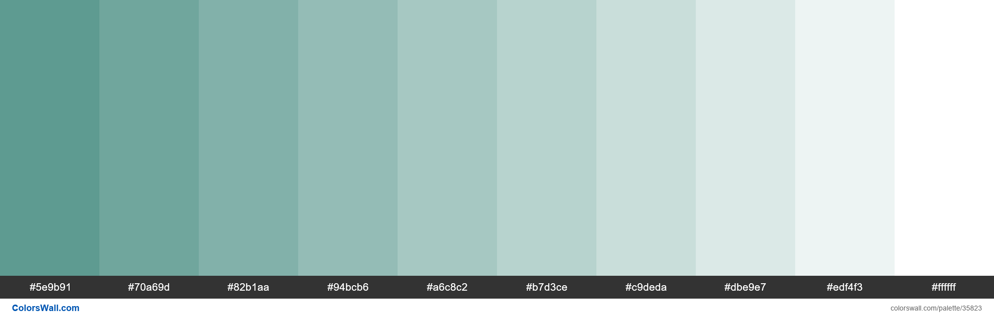 Tints XKCD Color dusty teal #4c9085 hex - #35823