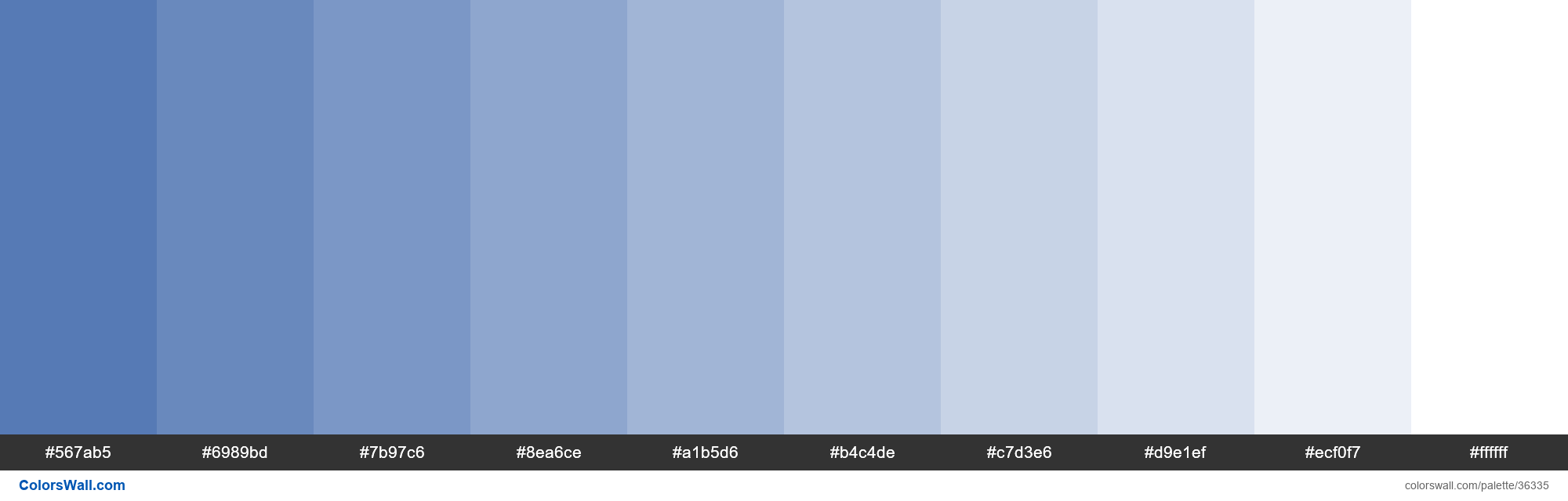 Tints XKCD Color french blue #436bad hex - #36335