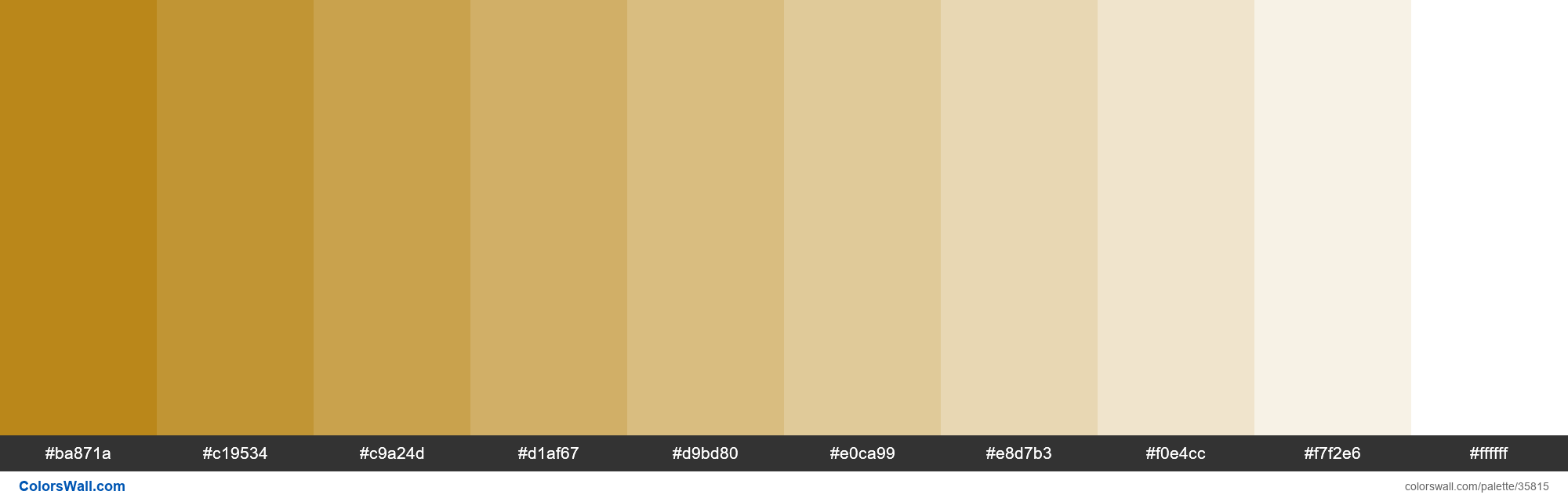 Tints XKCD Color golden brown #b27a01 hex - #35815