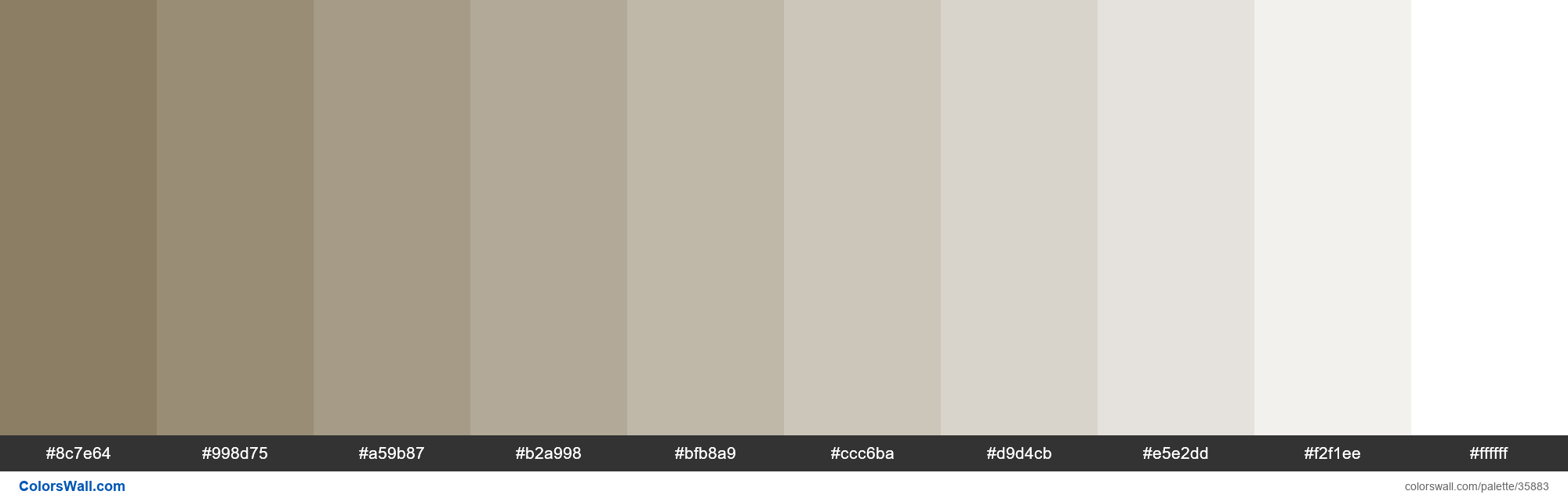 Tints XKCD Color grey brown #7f7053 hex - #35883
