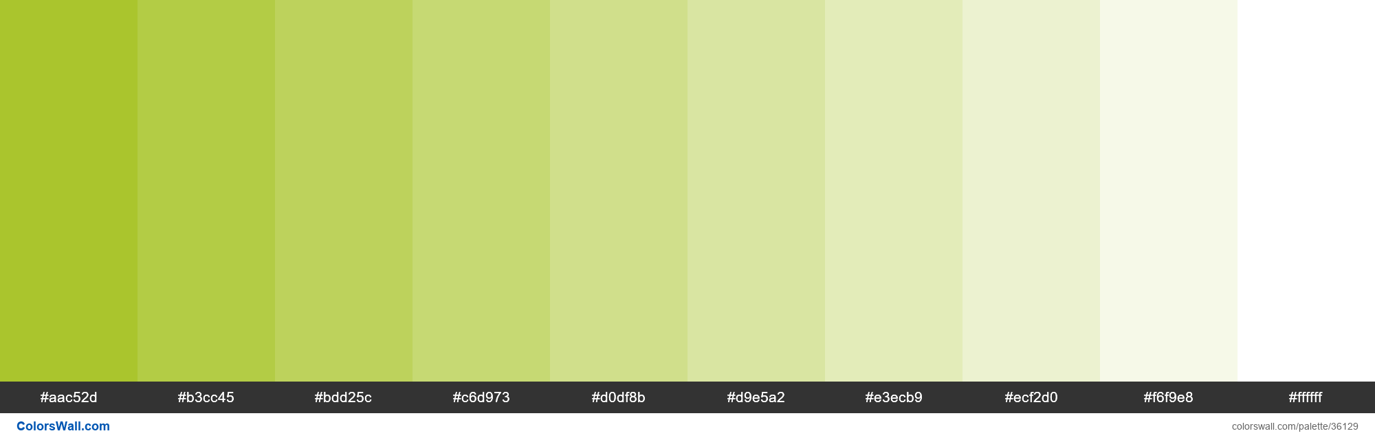 Tints XKCD Color gross green #a0bf16 hex - #36129