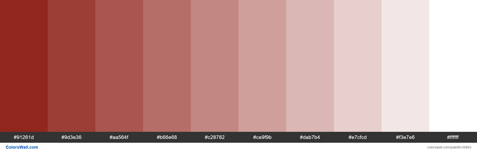 Tints XKCD Color indian red #850e04 hex - #35863