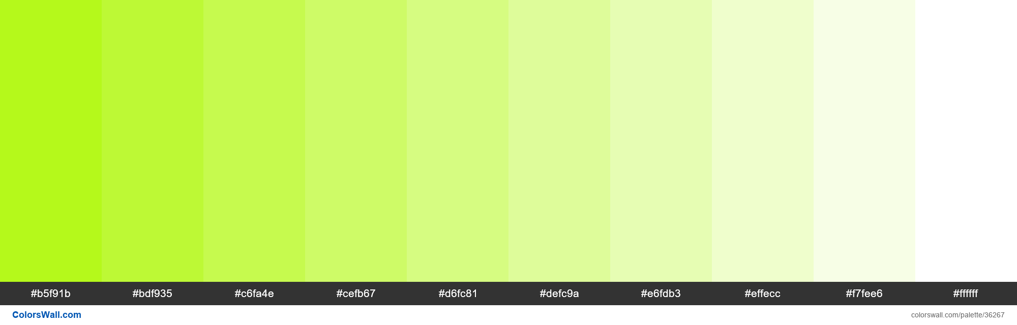 Tints XKCD Color lemon green #adf802 hex - #36267