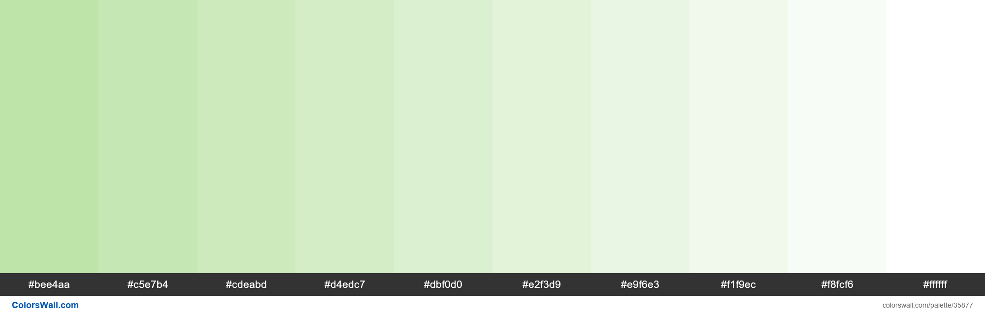 Tints XKCD Color light grey green #b7e1a1 hex - #35877