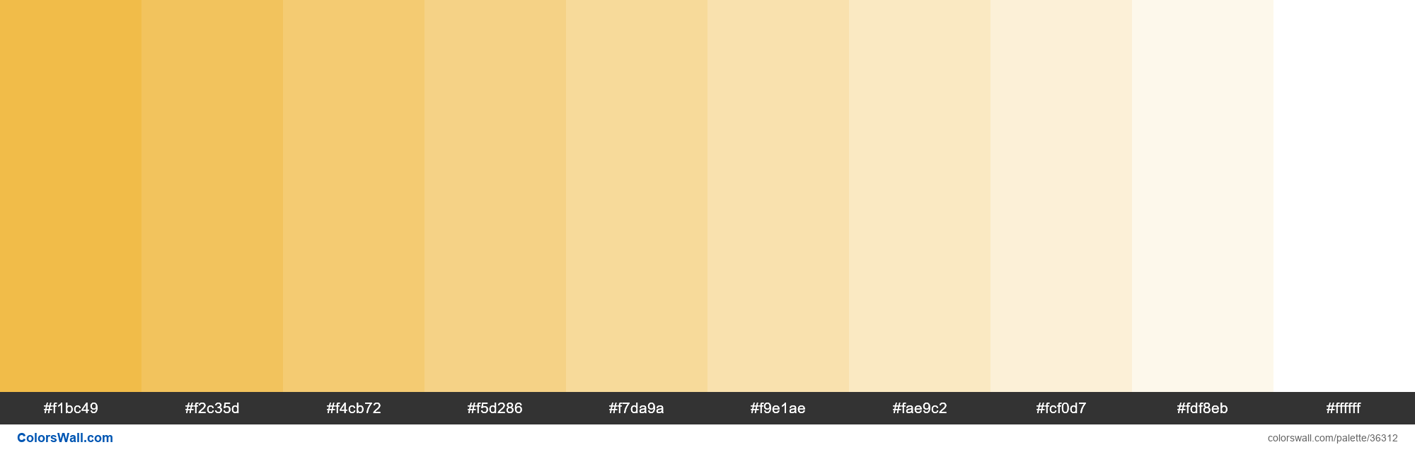 Tints XKCD Color macaroni and cheese #efb435 hex - #36312