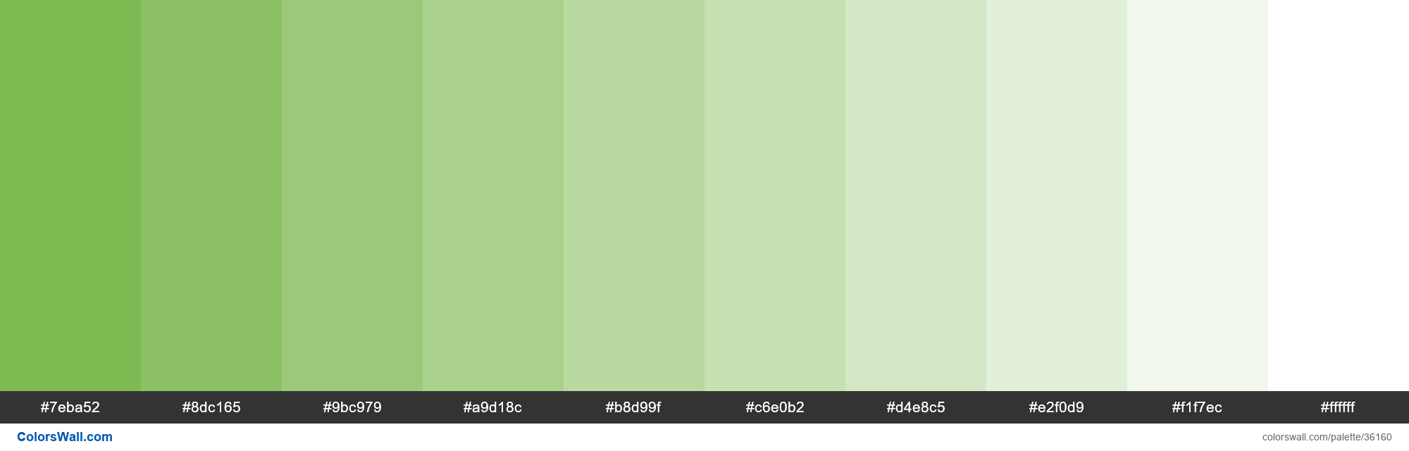 Tints XKCD Color nasty green #70b23f hex - #36160