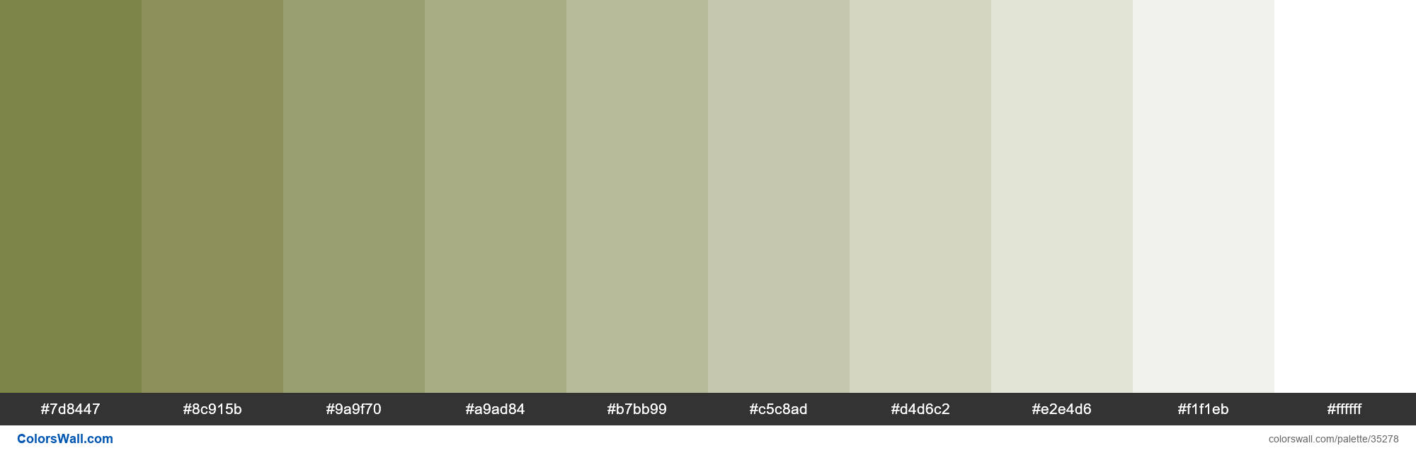 Tints XKCD Color olive drab #6f7632 hex - #35278
