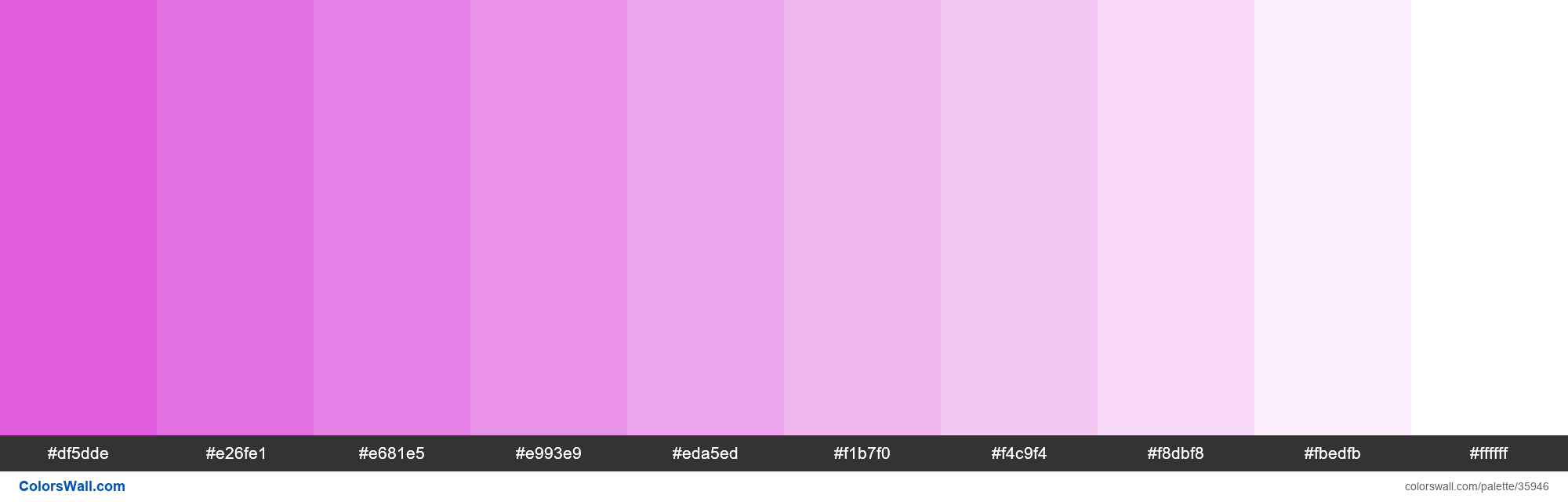 Tints XKCD Color pink purple #db4bda hex - #35946