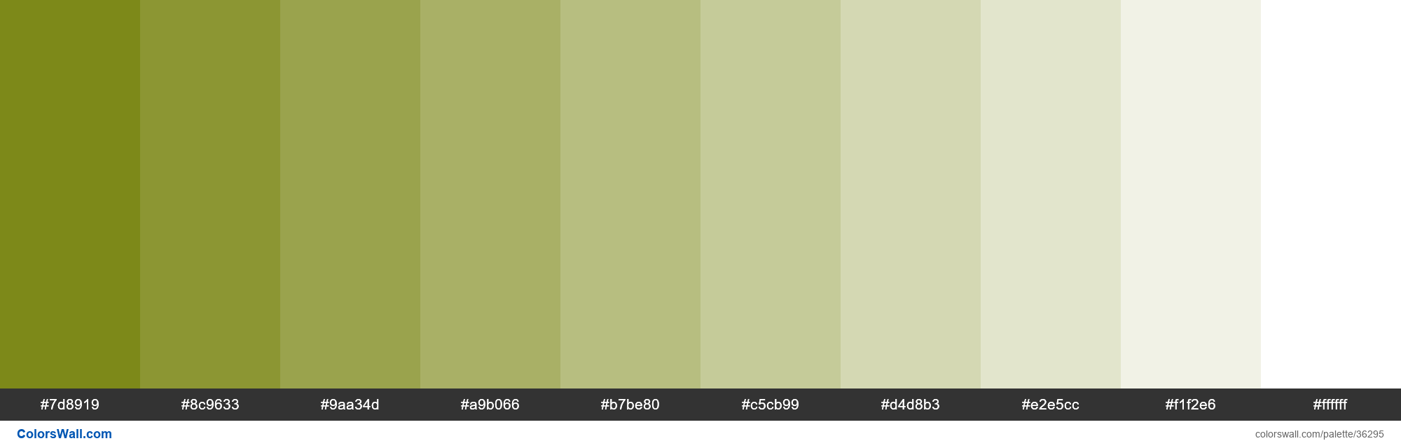 Tints XKCD Color poop green #6f7c00 hex - #36295