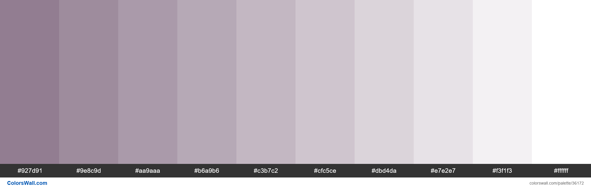Tints XKCD Color purple grey #866f85 hex - #36172