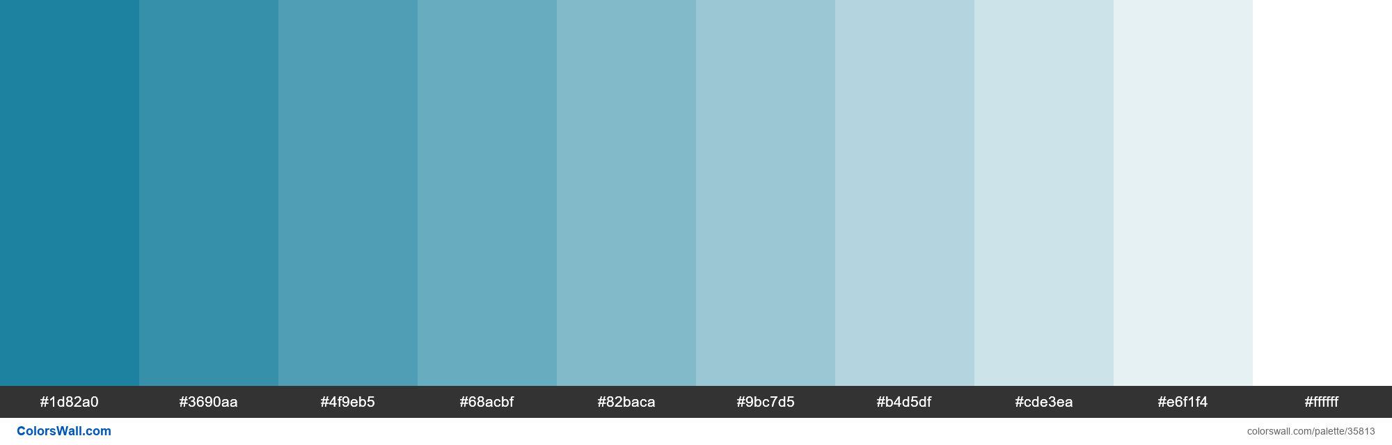 Tints XKCD Color sea blue #047495 hex - #35813