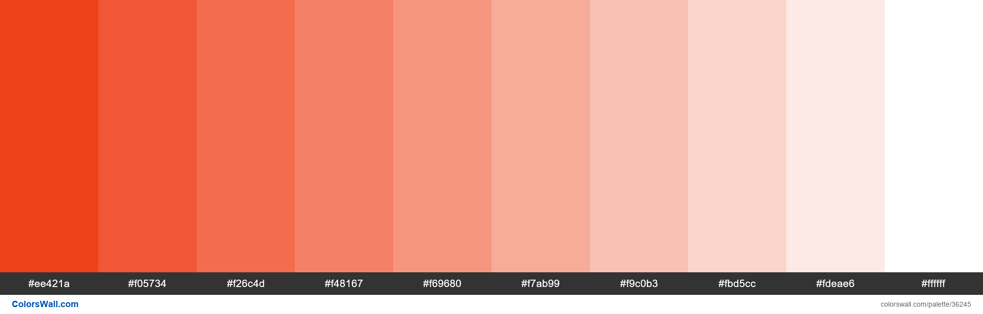 Tints XKCD Color tomato red #ec2d01 hex - #36245