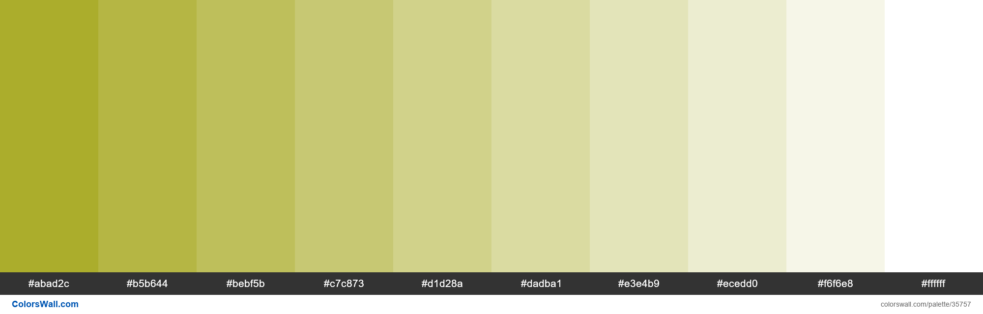Tints XKCD Color vomit #a2a415 hex - #35757