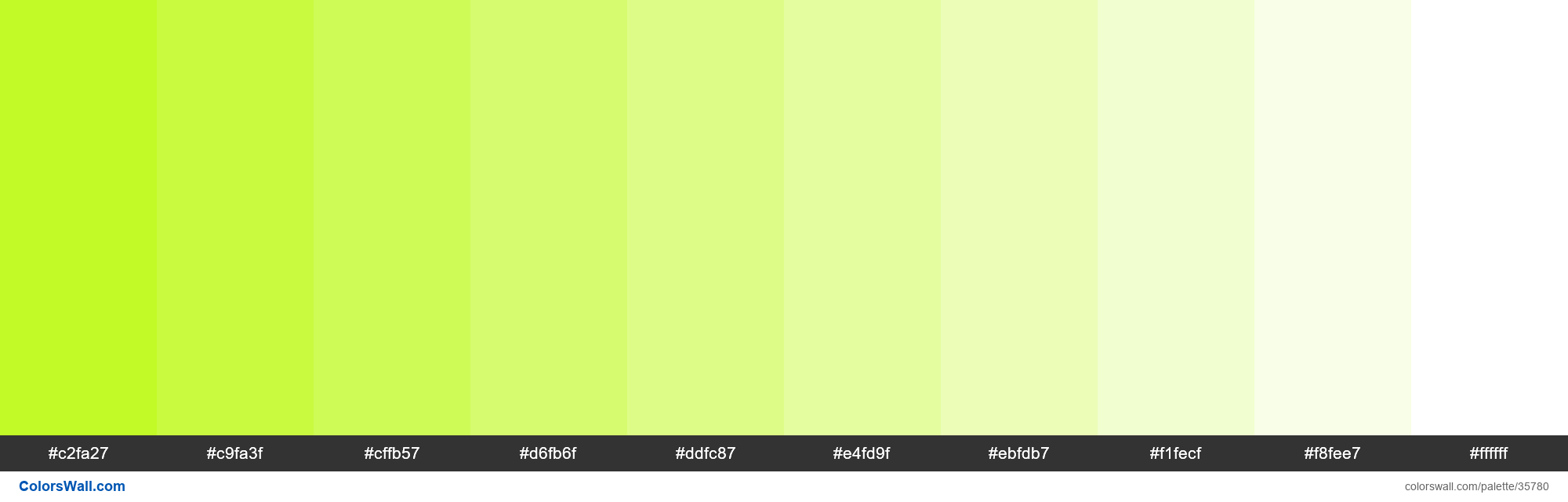 Tints XKCD Color yellowgreen #bbf90f hex - #35780