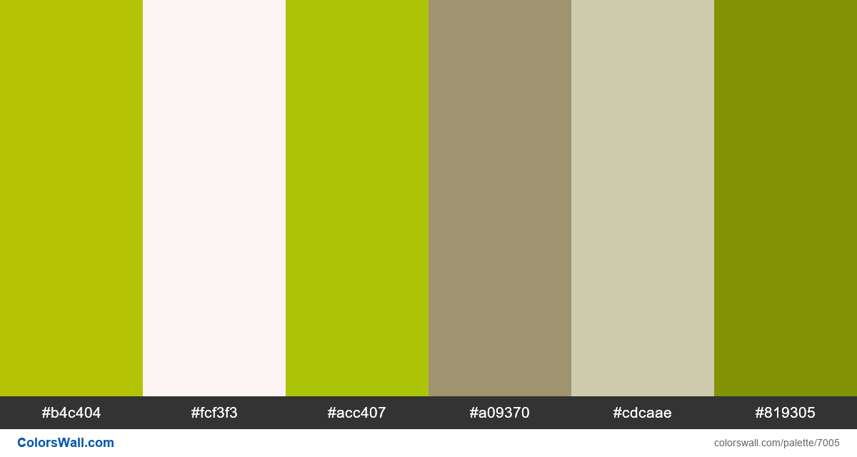 Traveller onepage natura colors palette - #7005