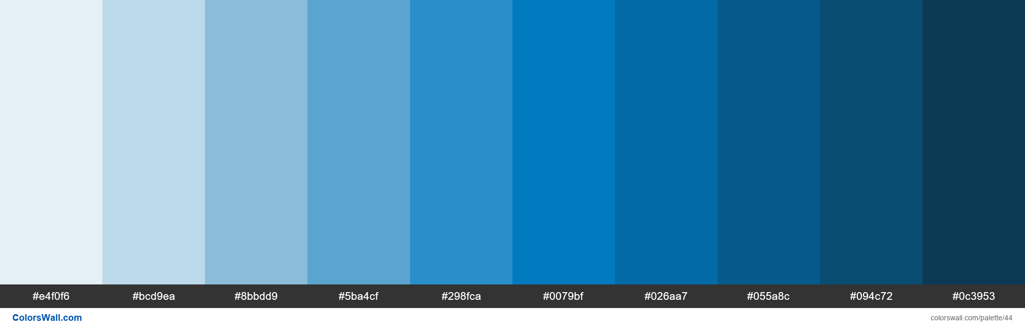Trello Blue colors palette - #44