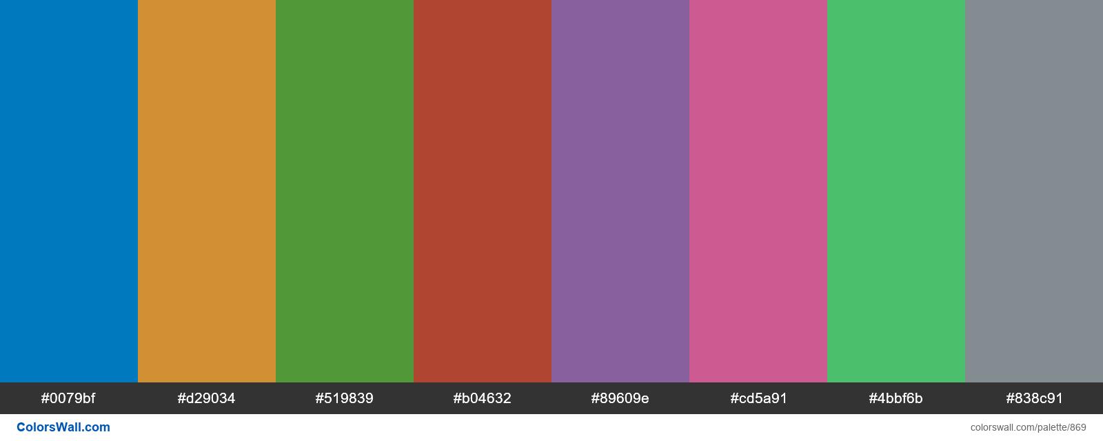 Trello Board backgrounds color palettes - #869