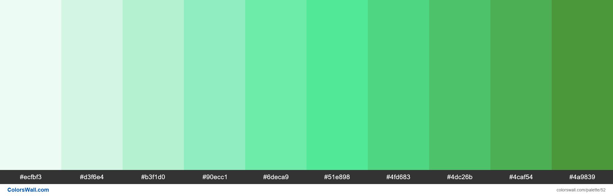 Trello Lime colors palette - #52
